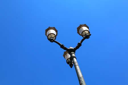 plaza: plaza de armas in cuzco peru street light lantern.
