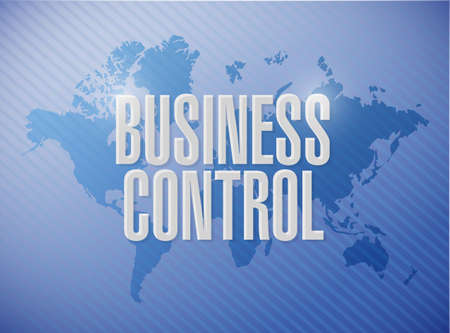 superintendence: business control world sign concept illustration design Stock Photo