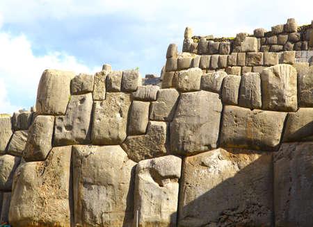 archaeological: Inca Ruins - Saqsaywaman, Peru, South America. Archaeological complex, Cuzco.