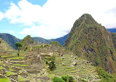 unesco: Ancient Incan city of Machu Picchu, Peru. Unesco site Stock Photo