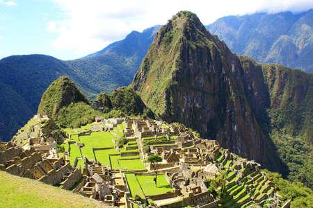 マチュピチュ、ペルーの神秘的な都市。世界の不思議 写真素材