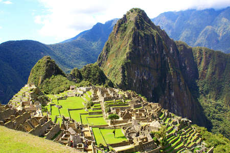 Mysterious city of Machu Picchu, Peru. Wonder of the World