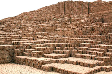 lima: The Huaca Pucllana in the Miraflores district of Lima, Peru
