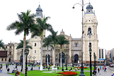 lima: Cathedral of Lima, Peru, South America. early morning Editorial