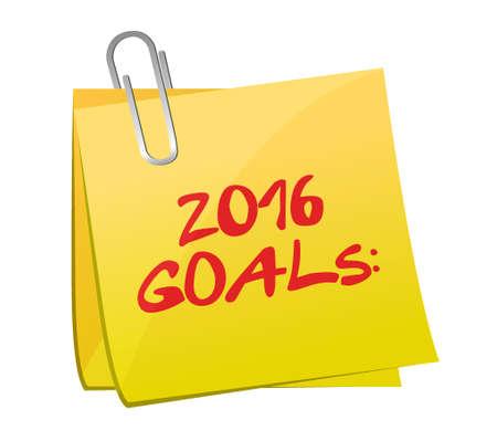 accomplish: 2016 goals post memo illustration design graphic Illustration