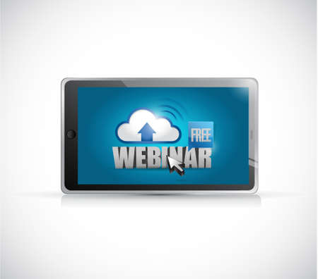 free illustration: free webinar tablet electronics illustration design graphic over white