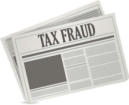 tax attorney: tax fraud newspaper illustration design graphic over white