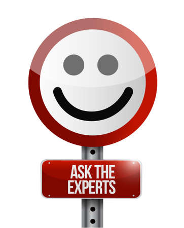 ask the experts road face illustration design graphic over white Stok Fotoğraf - 49427304