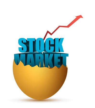 stock market egg illustration design graphic over white 向量圖像