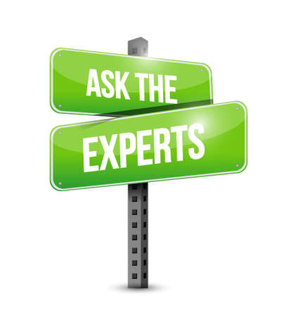 experts: ask the experts road sign illustration design graphic over white