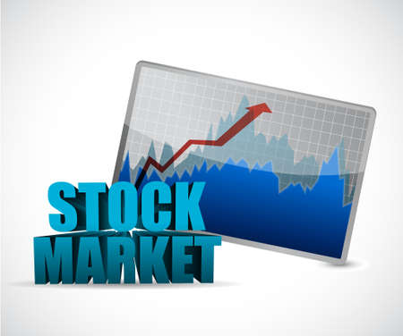 projects: stock market data graph illustration design graphic over white