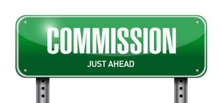brokerage: commission road sign illustration design graphic over white Illustration