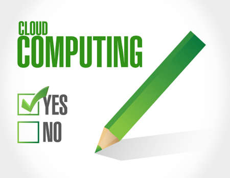 cloud computing approval sign illustration design graphic