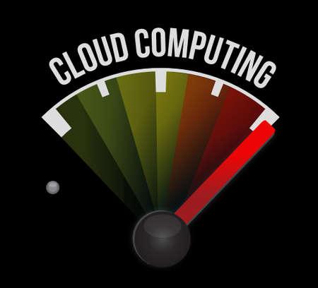 cloud computing meter sign illustration design graphic