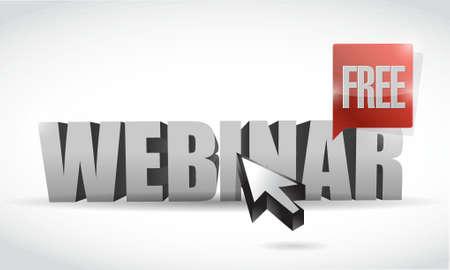 live webinar text sign illustration design graphic over white