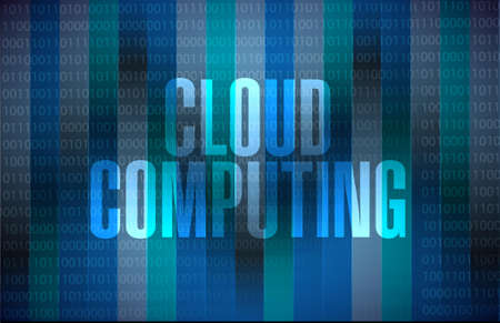 cloud computing binary sign illustration design graphic