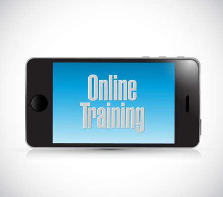 online training phone text sign illustration design graphic Ilustração