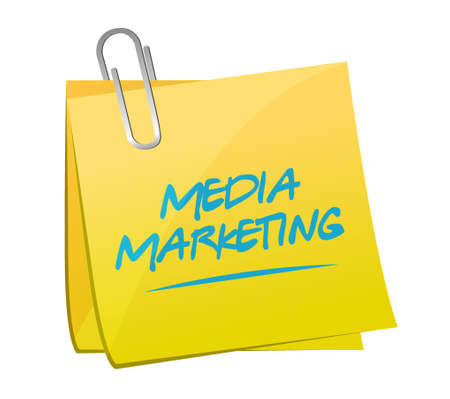 Media Marketing memo post sign concept illustration design graphic 向量圖像