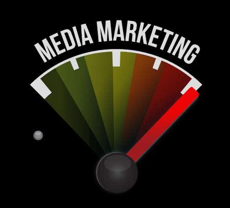Media Marketing meter sign concept illustration design graphic