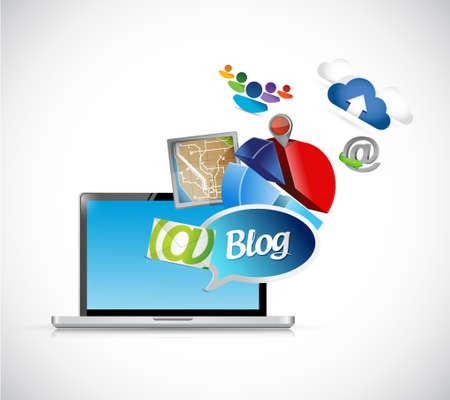 blog phone media tools illustration design graphics 向量圖像