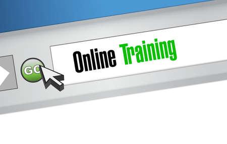 indoctrinate: Online Training web sign concept illustration design graphic