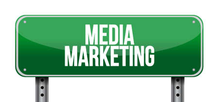 Media Marketing road sign concept illustration design graphic