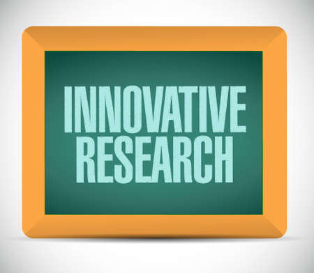 innovative: innovative research board sign concept illustration design graphic