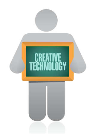 experimental: creative technology avatar board sign concept illustration design graphic