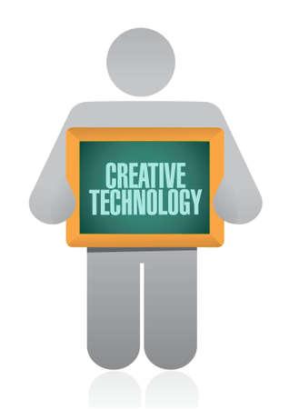 creative technology avatar board sign concept illustration design graphic