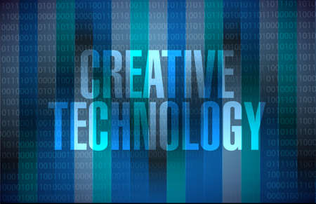 creative technology binary sign concept illustration design graphic