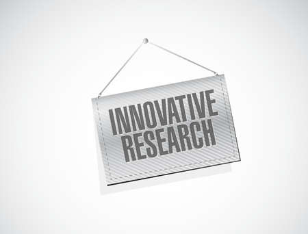innovative research banner sign concept illustration design graphic