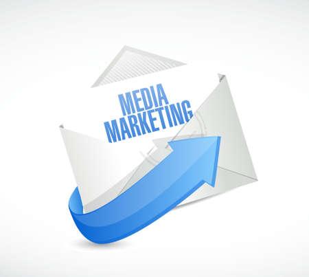 Media Marketing mail sign concept illustration design graphic