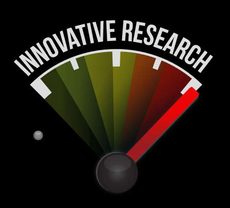 investigate: innovative research meter sign concept illustration design graphic