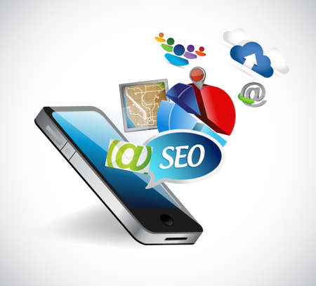 seo phone media tools illustration design graphics