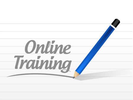 indoctrinate: Online Training message sign concept illustration design graphic Illustration