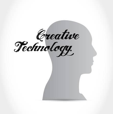 creative technology brain sign concept illustration design graphic Ilustração