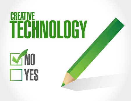 no creative technology approval sign concept illustration design graphic