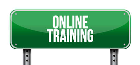 Online Training road sign concept illustration design graphic Illustration