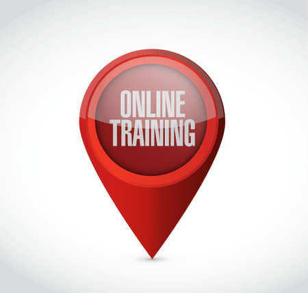 indoctrinate: Online Training pointer sign concept illustration design graphic