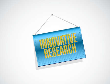inquest: innovative research banner sign concept illustration design graphic