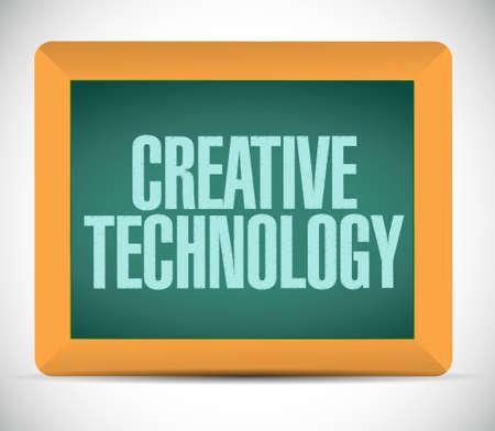 creative technology board sign concept illustration design graphic