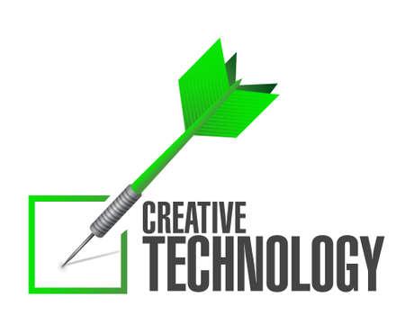 creative technology check dart sign concept illustration design graphic