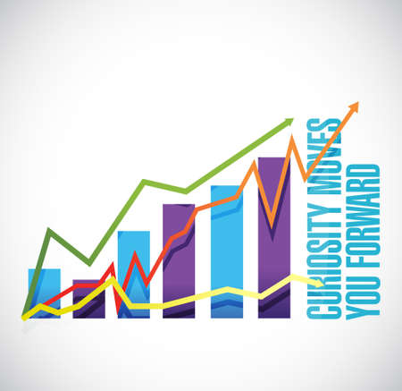 Curiosity moves you forward business graph sign concept illustration design