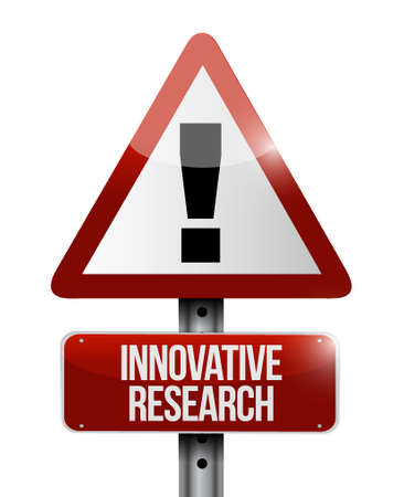 inquest: innovative research warning sign concept illustration design graphic