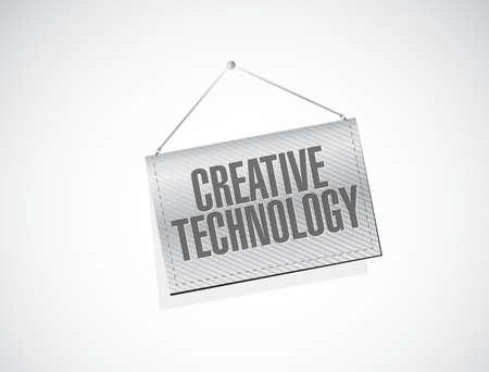 creative technology hanging banner sign concept illustration design graphic