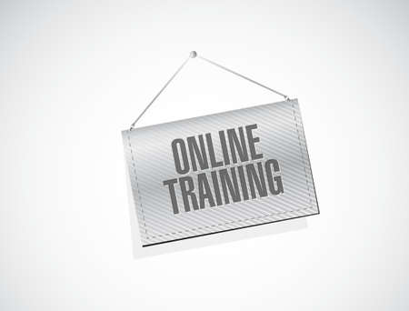 indoctrinate: Online Training banner sign concept illustration design graphic