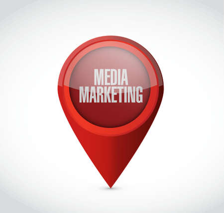 Media Marketing pointer sign concept illustration design graphic