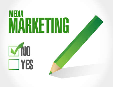social networking: no Media Marketing approval sign concept illustration design graphic