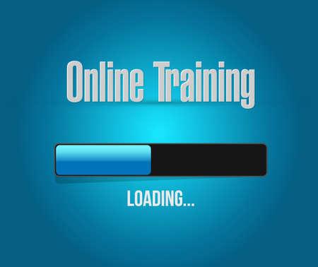 indoctrinate: Online Training loading bar sign concept illustration design graphic