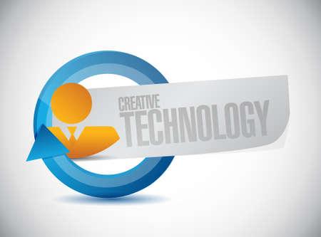creative technology avatar cycle sign concept illustration design graphic Ilustração